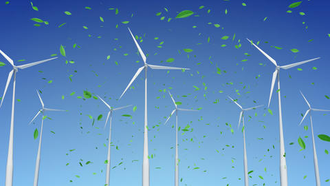 Wind Turbine A1WG HD Stock Video Footage