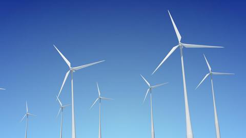 Wind Turbine B1W HD Stock Video Footage
