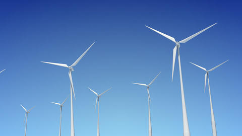 Wind Turbine B1W HD Stock Video Footage