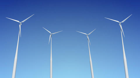 Wind Turbine C1W HD Animation