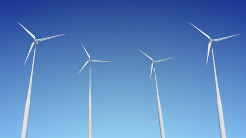 Wind Turbine C1W HD Stock Video Footage
