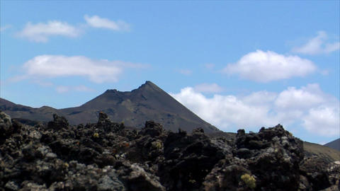 time lapse over vulcan Timanfaya national park Stock Video Footage