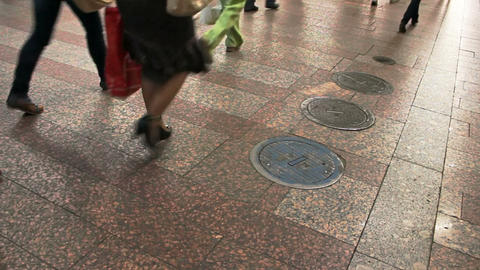 People passing by Stock Video Footage
