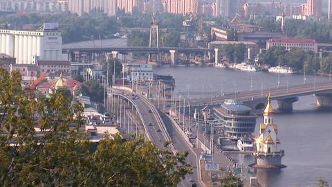 kyiv bridge Footage