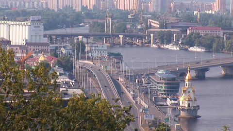 kyiv bridge Stock Video Footage
