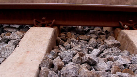 Lots of stones on the railroad Footage