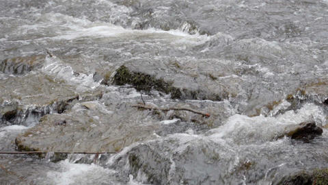 The flowing water on the river Footage