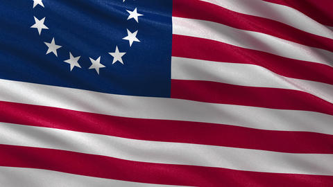 Betsy Ross flag seamless loop Animation