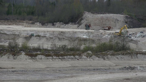 Limestone mining industry with equipments Footage