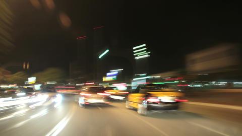 Road Rage Night City Camera Car Barcelona 4k Footage