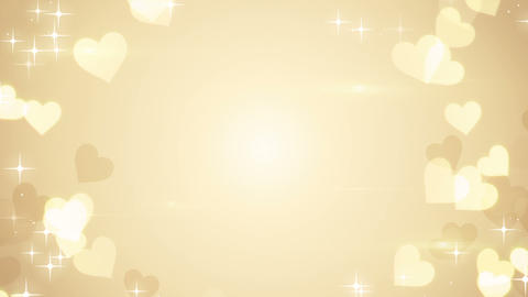 gold heart shapes on bright background loop Animation