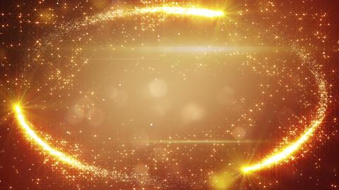 orange holiday frame of fairy dust loop background Animation