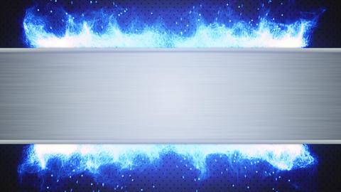 Metal Plate And Blue Flame Loop stock footage