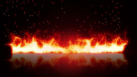 firewall and reflection loopable background Animation