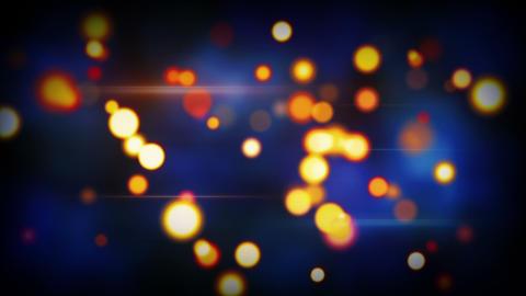 orange blue shining circle bokeh lights loop backg Animation