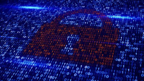 digital binary code lock loopable background Animation