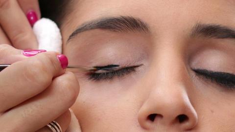 Face Makeup Black Eyeliner Footage