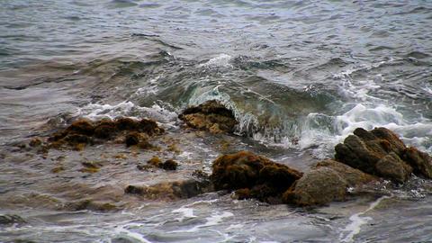 Mediterranean Sea Bank Of Rocks stock footage