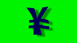 FLOATING YEN SIGN WITH SHADOW Animation