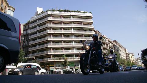 Barcelona Street Life Traffic Time Lapse Footage