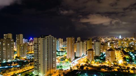 4K Night City Timelapse stock footage