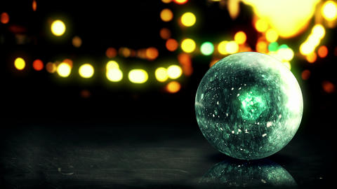 Blue Orb 3D Bokeh City Background Loop Animation - stock footage