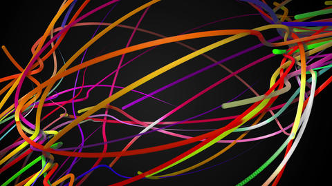 Rainbow Stripes Line Loop Space Animation Dark Bac Animation