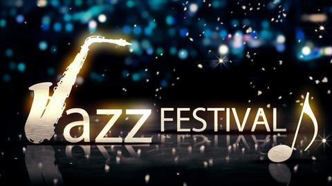 Jazz Festival Saxophone Silver City Bokeh Star Shi Animation
