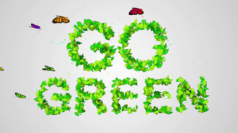 Go Green Leaf Particles 3D Animation - 4K Resoluti Animation