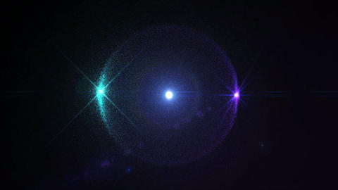 Particles Sphere Optical Flare Blue Purple Looping Animation