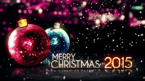 Merry Christmas 2015 Night Bokeh Beautiful 3D Back Animation