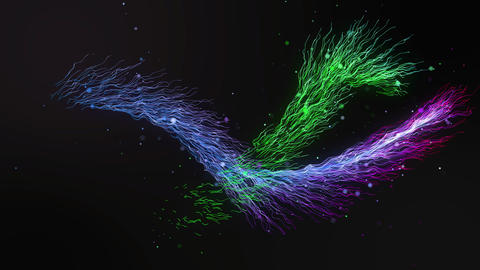 Colorful Wave Electricity looping animation - 4K R Animation