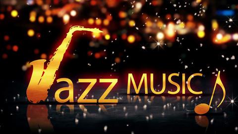 Jazz Music Saxophone Gold City Bokeh Star Shine Ye Animation