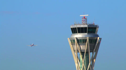 Barcelona Airport Control Tower Footage