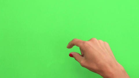 Mobile Device Touch Screen Finger Gestures On Gree stock footage