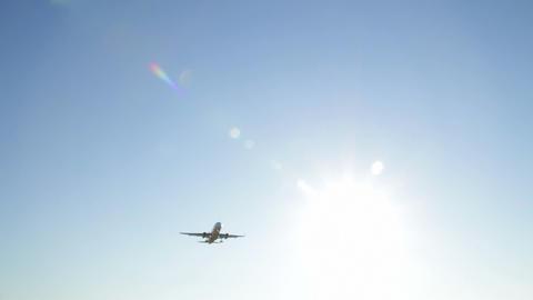 Jet plane approaching landing Stock Video Footage