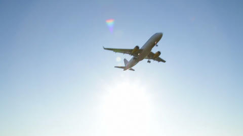 Jet Plane Approaching Landing stock footage
