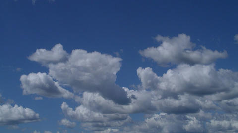 Midday clouds time-lapse 1 Stock Video Footage
