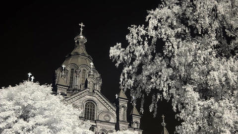 Infrared Finland: Uspenski Cathedral in Helsinki 2 Footage