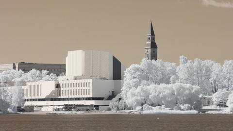Infrared Finland: Finlandia Hall in Helsinki 3 Footage