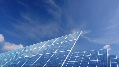 Solar Panel E2C HD Stock Video Footage