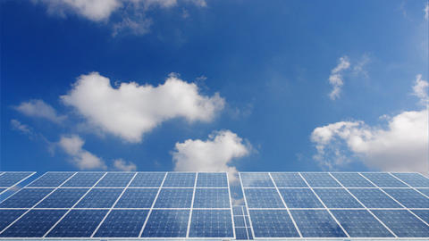 Solar Panel H2C HD Stock Video Footage