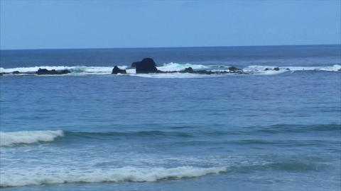 waves on a little reef Stock Video Footage