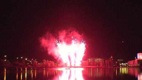 Fireworks show a1 Stock Video Footage