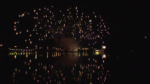 Fireworks show a3 Stock Video Footage