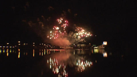 Fireworks show a4 Stock Video Footage