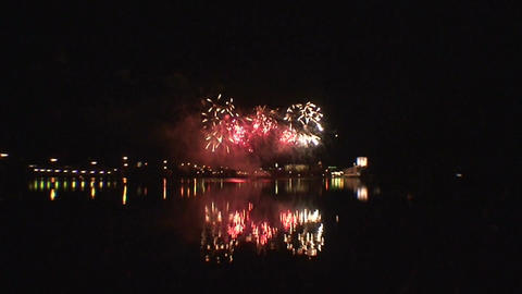 Fireworks show a6 Stock Video Footage
