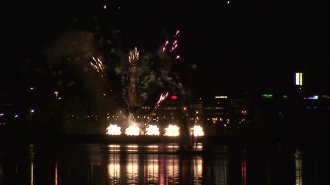 Fireworks show b1 Stock Video Footage