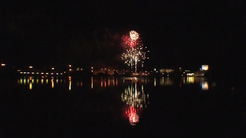 Fireworks show b3 Stock Video Footage