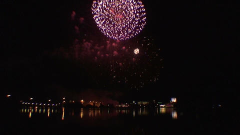 Fireworks show b7 Stock Video Footage